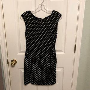 Loft Petites Geometric Pattern Dress - Sz. MP